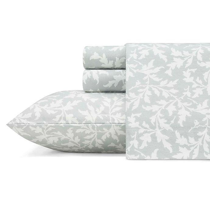 Alternate image 1 for Laura Ashley® Crestwood Flannel Sheet Set in Grey