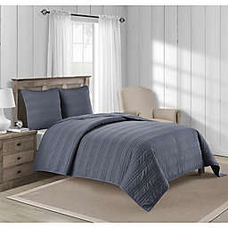 Bridge Street Riley King Coverlet in Indigo