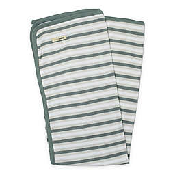 L'ovedbaby® Organic Cotton Swaddling Blanket in Seafoam