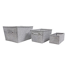 SALT™ Textured Canvas Storage Bin in Grey