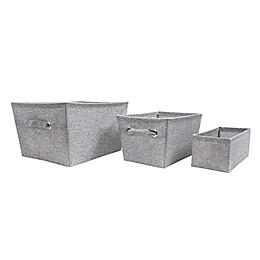SALT™ Textured Canvas Storage Bin in Grey
