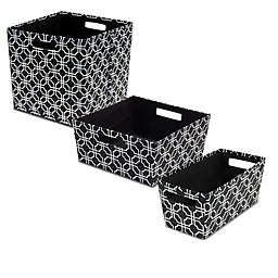 b+in® Fabric Storage Bin in Black