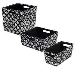 b+in® Fabric Storage Bin in Black