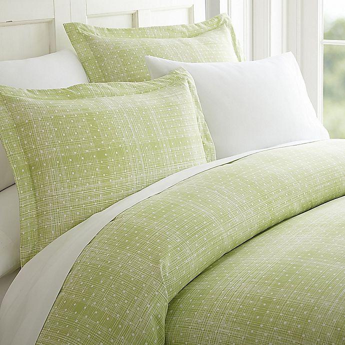 Alternate image 1 for Elegant Comfort Polka Dot California King Sheet Set in Sage