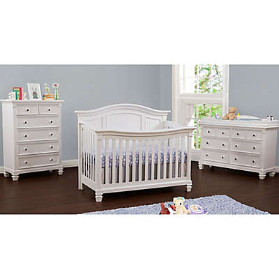 Baby Cache Glendale Nursery Furniture Collection in Pure White