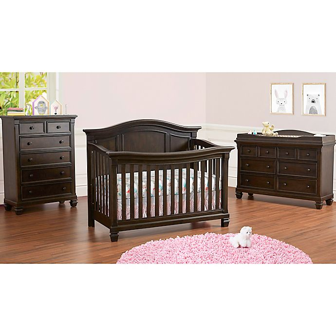 Baby Cache Glendale Nursery Furniture Collection In Charcoal Brown