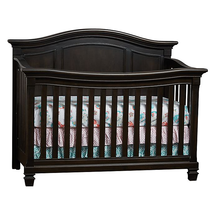 Alternate image 1 for Baby Cache Glendale 4-In-1 Convertible Crib in Charcoal Brown