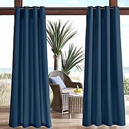 Madison Park Pacifica Solid 3M Scotchgard Grommet Top Outdoor Curtain Panel