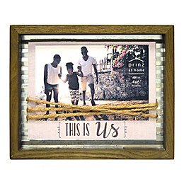 Prinz This Is Us Twine 4-Inch x 6-Inch Picture Frame in Natural