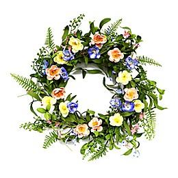Puleo International 20-Inch Artificial Ranunculus Wreath