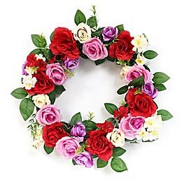 Puleo International 20-Inch Artificial Rose Wreath