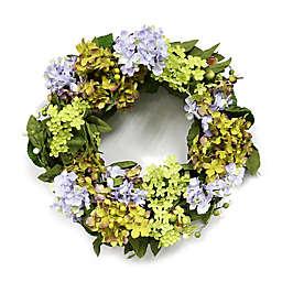 Puleo International 22-Inch Artificial Hydrangea Wreath