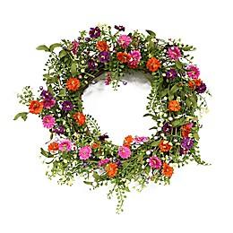 Puleo International™ 22-Inch Spring Daisy Wreath