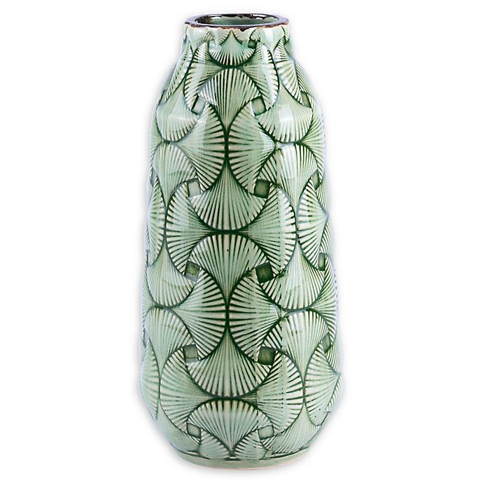 Alternate image 1 for Zuo® Modern Ventra Medium Ceramic Vase in Green
