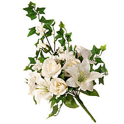 National Tree Company® 19-Inch Artificial Rose and Lily Bundle