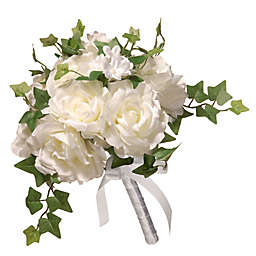 National Tree Company® 12-Inch Artificial Rose Wedding Bouquet