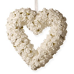 National Tree Company® 9.5-Inch Artificial Rose Heart Wreath