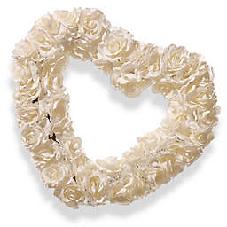 National Tree Company® 17-Inch Artificial Rose Heart Wreath