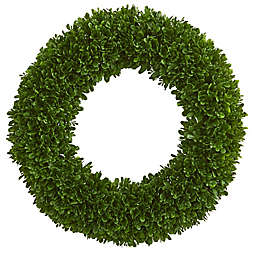 Nearly Natural 19.5-Inch Tea Leaf Wreath