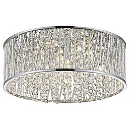 Decor Therapy Collins 5-Light LED Semi-Flush Mount Ceiling Light in Chrome
