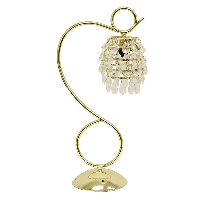 Alternate image 1 for Décor Therapy Halle Crystal Dangles Accent Lamp in Polished Brass
