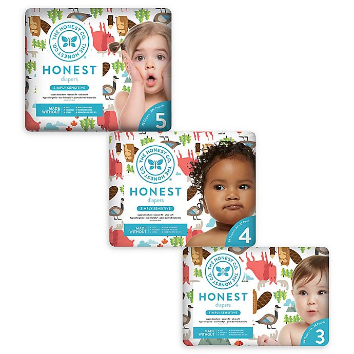 Alternate image 1 for Honest Diapers in Into the Wild Pattern