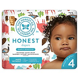 Honest 29-Pack Size 4 Diapers in Into the Wild Pattern