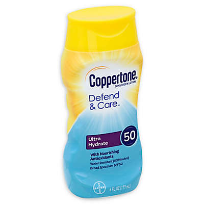 Cooppertone® Defend & Care™ 6 fl.oz. Ultra Hydrate Sunscreen Lotion with SPF 50