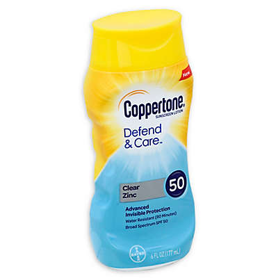 Cooppertone® Defend & Care™ 6 fl.oz. Clear Zinc Sunscreen Lotion with SPF 50