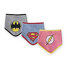 DC Comics™ Size 0-12M 3-Pack Justice League Bibs