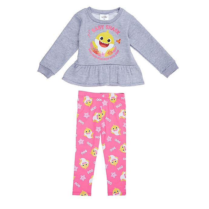 Alternate image 1 for Baby Shark 2-Piece Pant Set in Grey