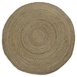 Bee & Willow™ Home Fireside Jute Braided 6' Round Area Rug in Natural