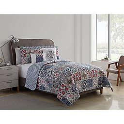VCNY Home Azure Reversible Quilt Set