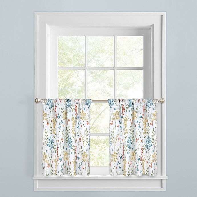 Alternate image 1 for Meadow Blooms Window Curtain Tier Pair
