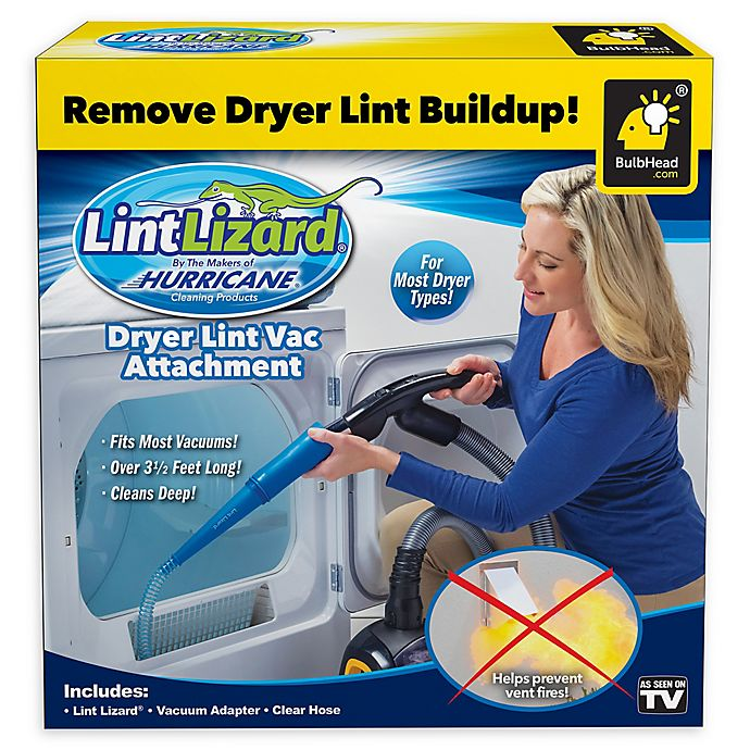 Alternate image 1 for LintLizard® Dryer Lint Vacuum Attachment in Blue/Black