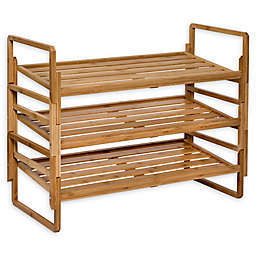 Honey-Can-Do® 3-Piece 3-Tier Stacking Bamboo Shoe Rack