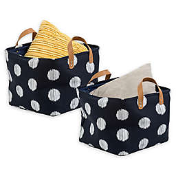 Honey-Can-Do® Coastal Storage Bin in Navy/Grey (Set of 2)