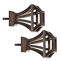 Cambria® Elite Square Birdcage Finial in Oil Rubbed Bronze (Set of 2)
