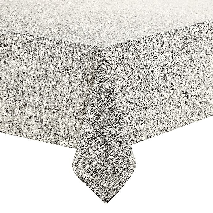 Alternate image 1 for Waterford® Linens Monroe 70-Inch x 104-Inch Oblong Tablecloth in Grey
