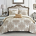 Chic Home Abello Reversible Queen Duvet Cover Set in Beige