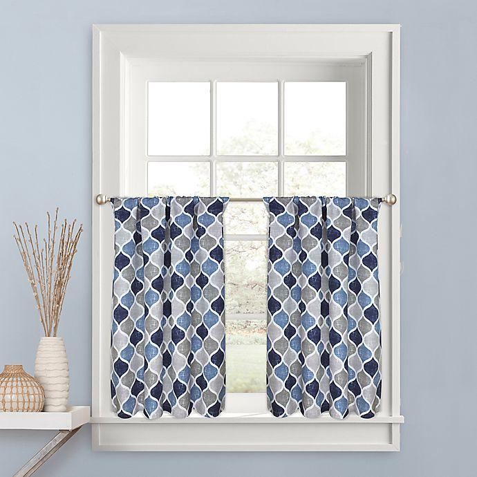 Alternate image 1 for Priya 24-Inch Kitchen Window Curtain Tier Pair in Blue