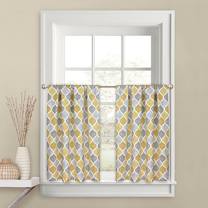 Buy Priya 36-Inch Kitchen Window Curtain Tier Pair In Yellow From Bed Bath & Beyond