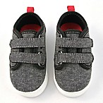 Rising Star™ Size 6-9M Canvas Sneaker in Grey/Black