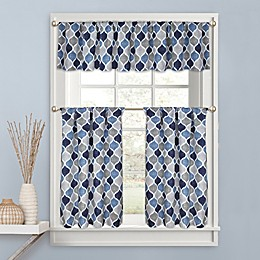 Priya Kitchen Window Curtain Tier Pair, Valance and Swag Pair
