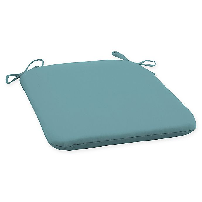 Alternate image 1 for Arden Selections™ Surf Canvas Outdoor Seat Cushion in Blue