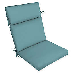 Arden Selections™ Surf Canvas Outdoor Dining Chair Cushion in Blue
