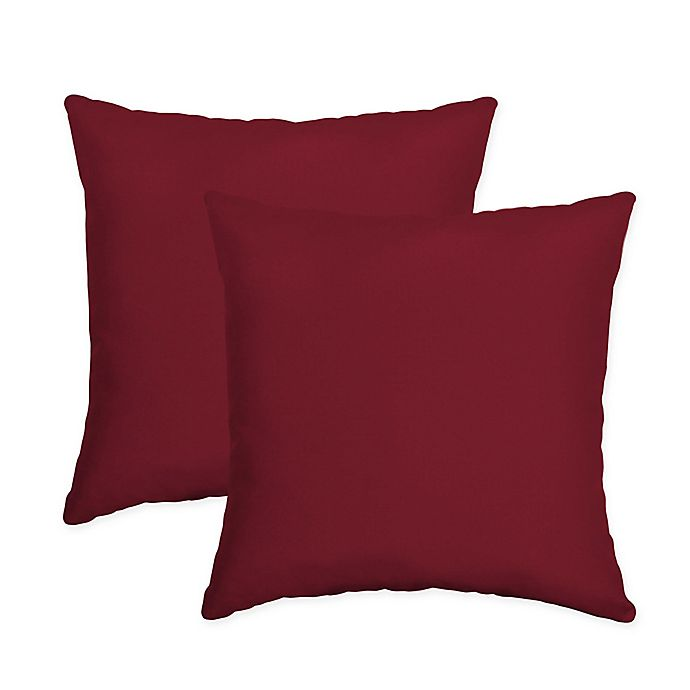 Alternate image 1 for Arden Selections Caliente Canvas Square Throw Pillows in Red (Set of 2)