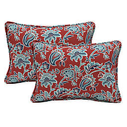 Arden Selections™ Caspian Oblong Indoor/Outdoor Lumbar Pillows in Red (Set of 2)