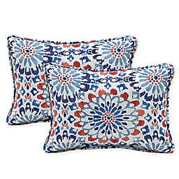 Selections by Arden Clark Oversized Lumbar Outdoor Throw Pillow in Cream