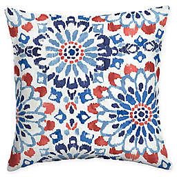 Arden Selections Clark Square Outdoor Throw Pillow in Blue/Red